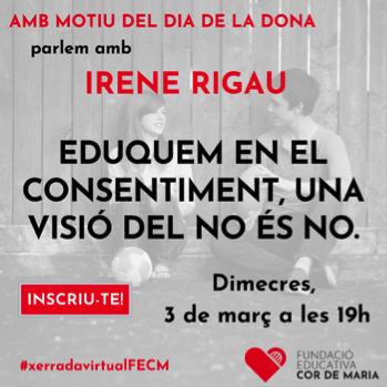 Webinar Irene Rigau. RESERVA'T LA DATA!